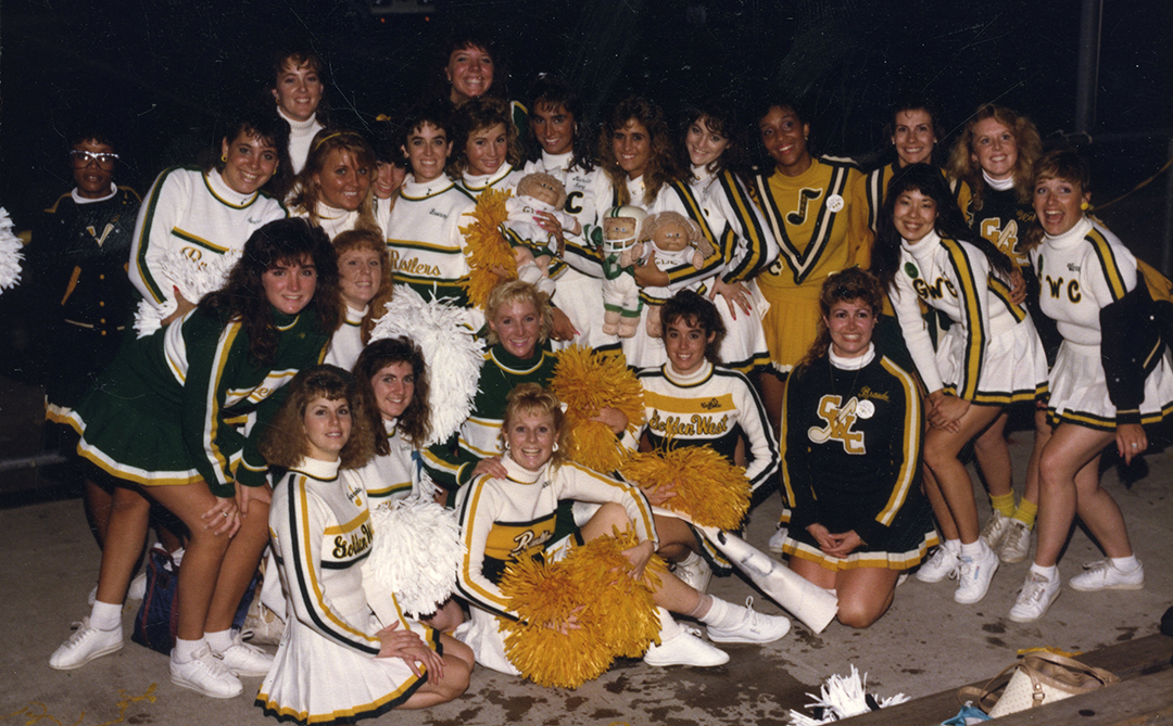 Cheer leaders and pep squad